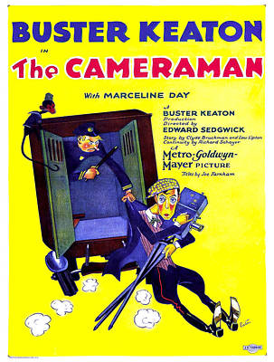 Vintage Poster - The Cameraman Poster by Vintage Images