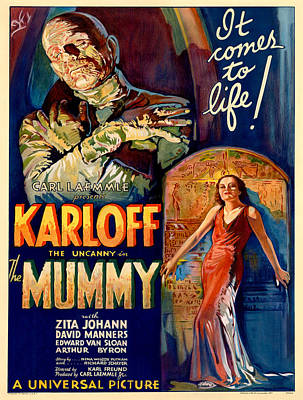 Vintage Poster - The Mummy Poster by Vintage Images
