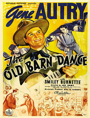 Vintage Poster - The Old Barn Dance Poster by Vintage Images