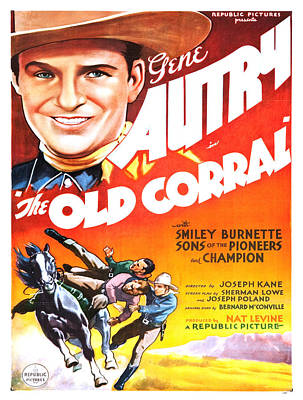Vintage Poster - The Old Corral Poster by Vintage Images