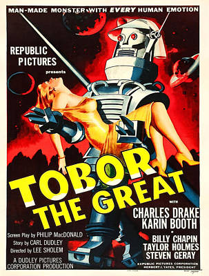 Vintage Poster - Tobor The Great Poster by Vintage Images