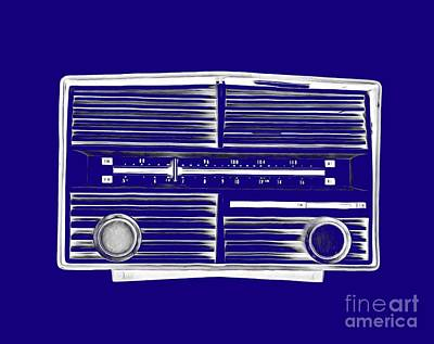 Vintage Radio Tee Poster by Edward Fielding