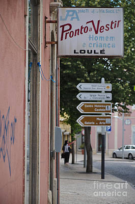 Vintage Ready-to-wear Sign In Loule Poster