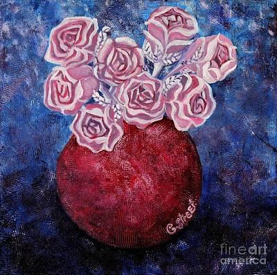 Vintage Roses Poster by Caroline Street