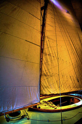 Poster featuring the photograph Vintage Sailboat by David Patterson