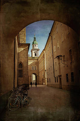 Poster featuring the photograph Vintage Salzburg by Carol Japp