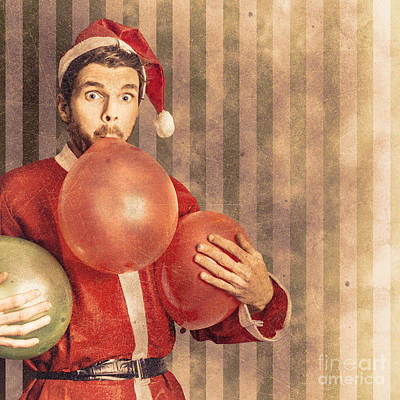 Vintage Santa Preparing For Christmas Party Poster by Jorgo Photography - Wall Art Gallery