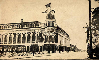 Vintage Shibe Park In Sepia Poster by Bill Cannon