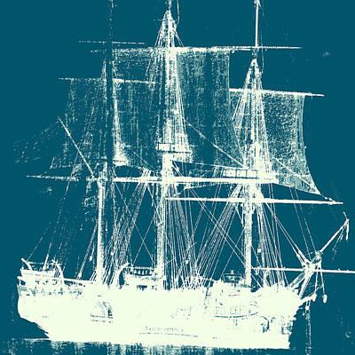 Vintage Ship V2 Poster by Brandi Fitzgerald