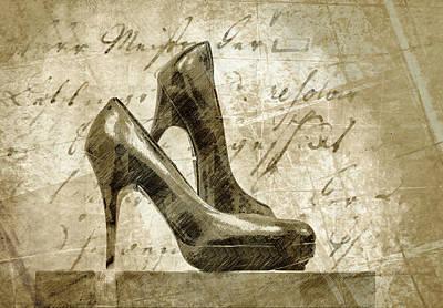 Vintage Shoes Poster