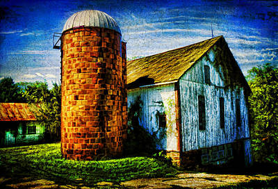 Vintage Silo Poster by Trudy Wilkerson