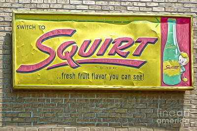 Vintage Squirt Sign Poster by Gregory Dyer
