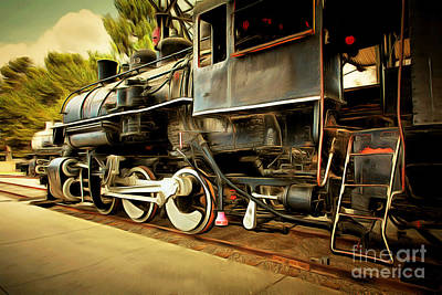 Vintage Steam Locomotive 5d29222brun Poster