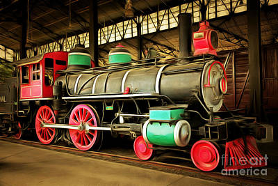 Vintage Steam Locomotive 5d29244brun Poster