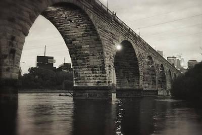 Vintage Stone Arch Bridge Poster