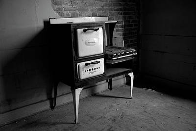 Vintage Stove - Bw Poster