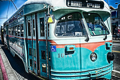 Vintage Streetcar Of San Francisco Poster by George Oze