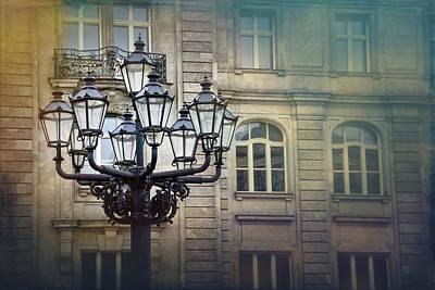 Vintage Streetlamp In Berlin  Poster