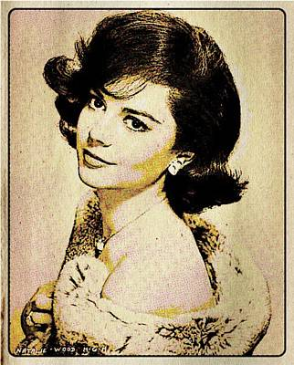 Vintage Style Natalie Wood Poster by Esoterica Art Agency