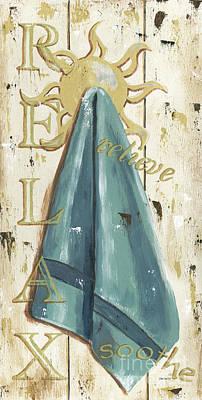 Vintage Sun Beach 2 Poster by Debbie DeWitt