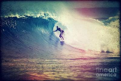Vintage Surf Style Poster by Paul Topp