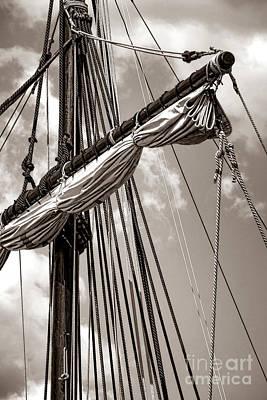 Vintage Tall Ship Rigging Poster