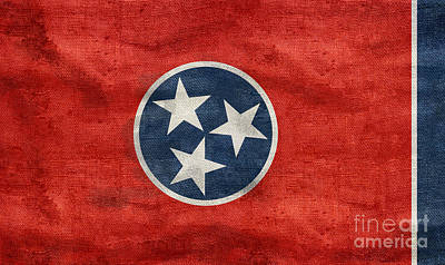 Vintage Tennessee Flag Poster