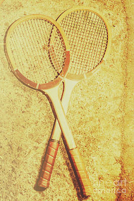 Vintage Tennis Racquets Poster
