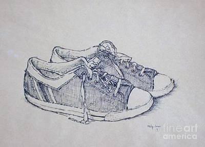 Vintage Tennis Shoes Poster by Philip Jones