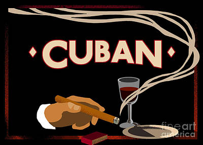 Vintage Tobacco Cuban Cigars Poster by Mindy Sommers