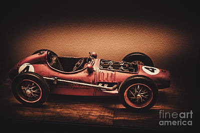 Vintage Toy Model Racing Car Poster by Jorgo Photography - Wall Art Gallery