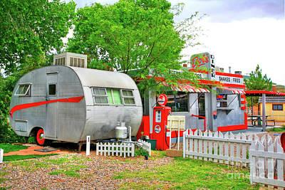 Vintage Trailer And Diner In Bisbee Arizona Poster