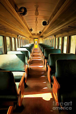 Vintage Train Passenger Car 5d28307brun Poster