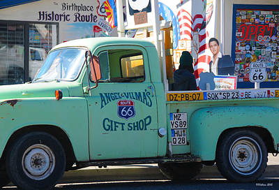 Vintage Truck With Elvis On Historic Route 66 Poster