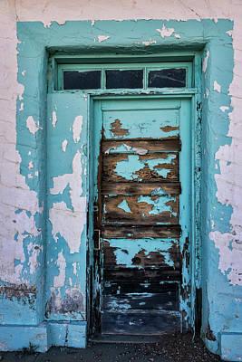 Poster featuring the photograph Vintage Turquoise Door  by Saija Lehtonen