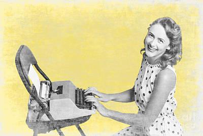 Vintage Typewriter Advertising Poster