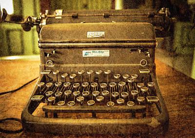 Vintage Typewriter Poster by Cynthia Wolfe