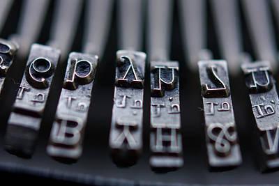 Vintage Typewriter Keys Poster by June Marie Sobrito