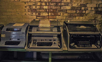 Vintage Typewriter Poster by Martin Newman