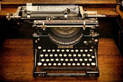 Vintage Underwood Poster by Patricia Strand