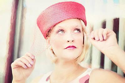 Vintage Val The Coral Hat Poster