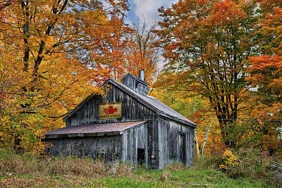 Poster featuring the photograph Vermont Sugarhouse by Expressive Landscapes Fine Art Photography by Thom