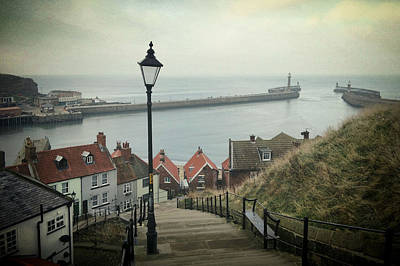 Vintage Whitby Poster by Sarah Couzens