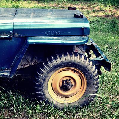 Vintage Wllys Cj-2a Jeep Poster