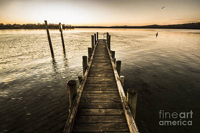 Vintage Wooden Pier Poster by Jorgo Photography - Wall Art Gallery