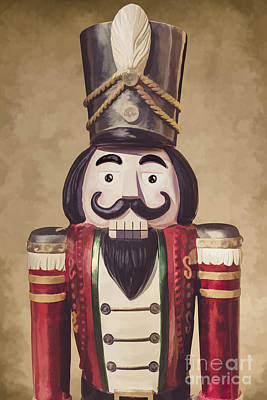 Vintage Wooden Toy Soldier Poster