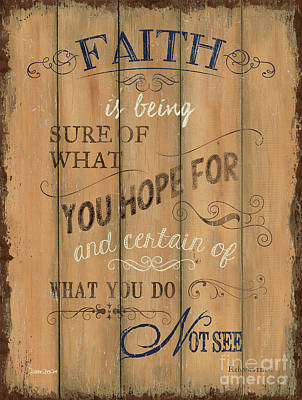 Vintage Wtlb Faith Poster by Debbie DeWitt