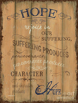 Vintage Wtlb Hope Poster by Debbie DeWitt