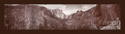 Poster featuring the photograph Vintage Yosemite Valley 1899 by John Stephens