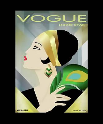 Vinttage Vogue Cover April 1929 Poster